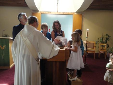 Dernier baptême à Saint-Claude en 2012