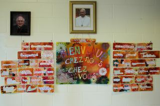Murale à l'occasion de l'année de l'accueil